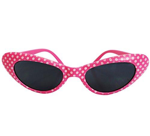 [Retro Polka Dot Sunglasses - Flirty Retro Style Polka Dot Sunglasses by Funny Party Hats (Pink)] (Bag Of Trash Costume)