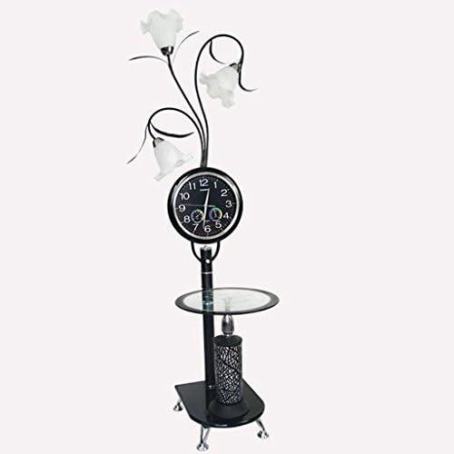 @フロアランプ LEDフロアランプ、リビングルームライト、フロアランプ付き ピアノライト (Color : Black, Edition : Remote control switch)
