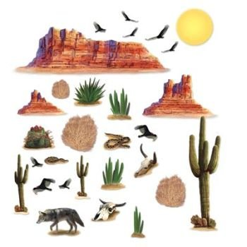 Wild West Desert Props Party Accessory (1 count) (29/Pkg) by The Beistle ()