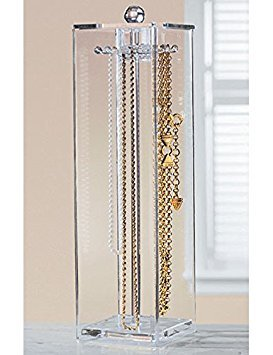Huang Acrylic Jewelry Necklaces Stand Holder and Organizer for Long Necklaces