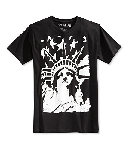 Ring Of Fire Mens American Liberty Graphic T-Shirt BKB - Liberty Premium Outlet
