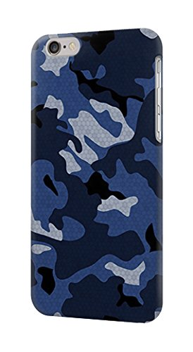 low priced f61f1 860d5 Amazon.com: R2959 Navy Blue Camo Camouflage Case Cover For iPhone 6 ...