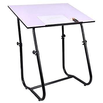 Blanco y Negro Tablero DM y PVC + acero redacción mesa escritorio ...