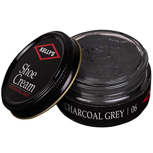 (Kelly's Shoe Cream - Professional Shoe Polish - 1.5 oz - Charcoal)