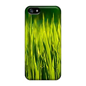 Premium Iphone 5/5s Case - Protective Skin - High Quality for Summer Grass Macro