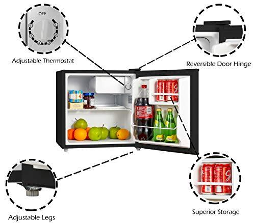 Emerson CR160BE Foot Compact Door Refrigerator, Black