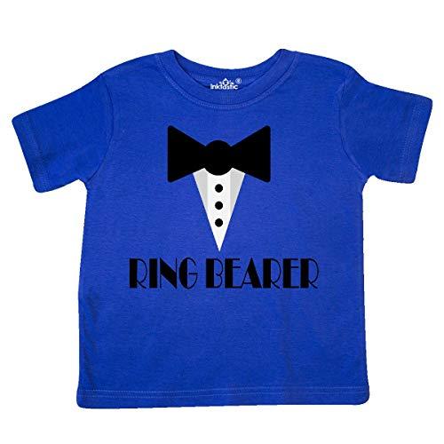 inktastic - Ringbearer Mock Tux Wedding Toddler T-Shirt 5/6 Royal Blue 223eb