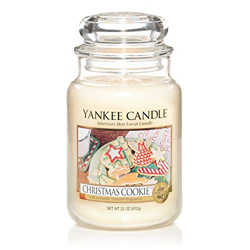 Yankee Candle Classic Housewarmer Large, Christmas Cookie, Scented Candle, Room Scent in Glass / Jar, 115504