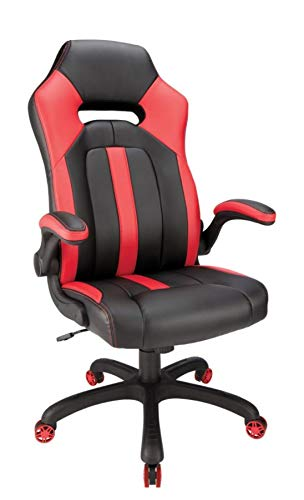 Peachy Amazon Com Realspace High Back Gaming Chair Red Black Dailytribune Chair Design For Home Dailytribuneorg