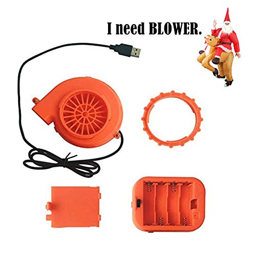 MJY Mini Fan Blower Battery Pack for Inflatable Costume Doll Mascot Head Game Clothing Perfect Replacement by USB Cable or Battery (USB Blower) ()