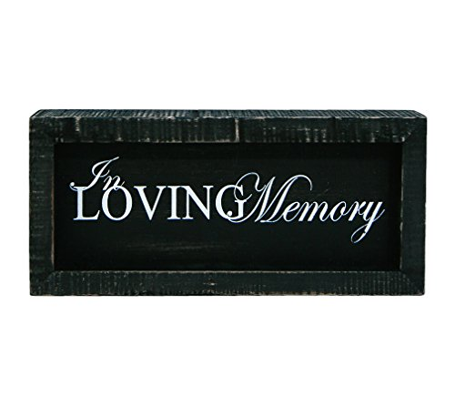 (In Loving Memory Black 10.5 x 4.5 Inch Wood Framed Hanging Wall Plaque)
