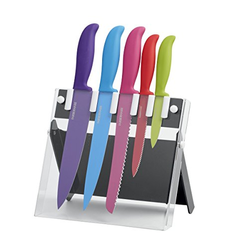 farberware-6-piece-non-stick-resin-knife-set-with-stand
