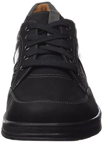 GanterHUGO, Weite H - Zapatos Derby Hombre Negro - Schwarz (schwarz/graphit 0163)