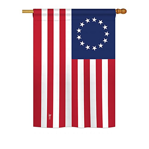 (Americana H140704 Betsy Ross Historic Impressions Decorative Vertical House Flag 28