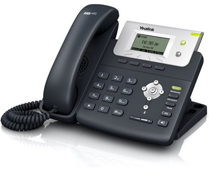 Yealink SIP-T21 (NON-PoE), VoIP Phone w/ 2 Lines, HD Voice, Power Supply Included