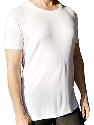 Christopher J. Apparel White Crew Neck Forever Tucked Ultra-Soft Tencel Blend Undershirt (Medium)