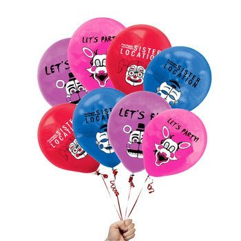 fat cat sales FNAF SISTER LOCATION BALLOONS 12 COUNT NEW