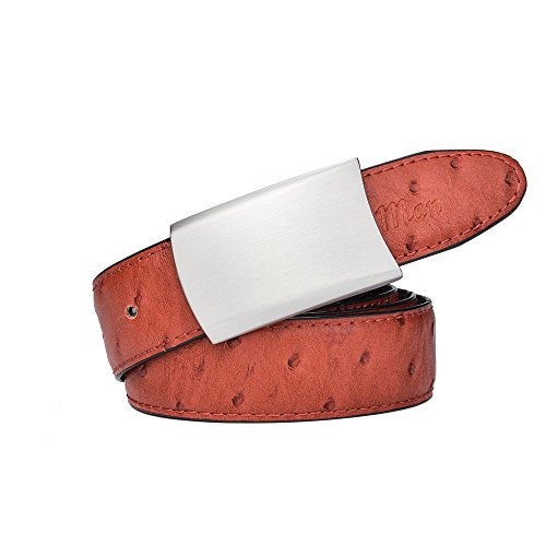 RADYMAN Rotatable Plate Buckle Ostrich Pattern Female Belts Summer Women Belts (Waist 30-44