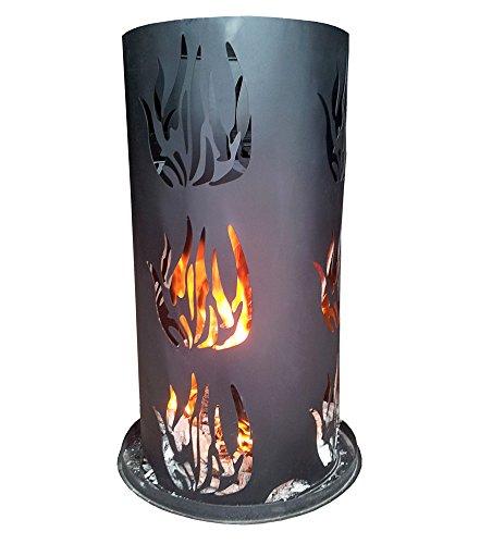 Feuersäule LD27, Feuerstelle Terrassenofen Terassenkamin Gartenkamin ~ Ø=80cm