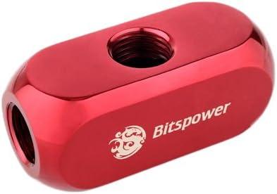 Bitspower Multi-F Block Fitting Deep Blood Red