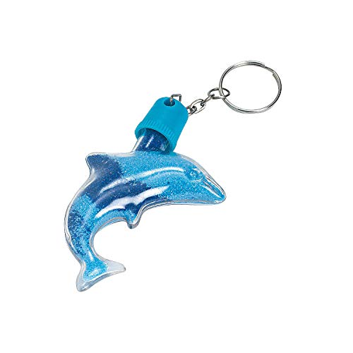 Fun Express - Dolphin Sand Art Bottle Key Chains - Craft Supplies - Sand Art - Containers - 12 Pieces