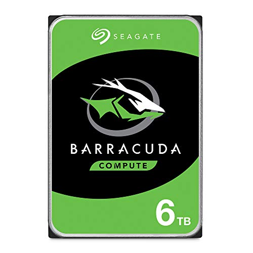 Seagate BarraCuda 6TB Internal Hard Drive HDD - 3.5 Inch SATA 6 Gb/s 5400 RPM 256MB Cache for Computer Desktop PC - Frustration Free Packaging (ST6000DM003)