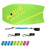 """Own the Wave 37"""" Body Board Pack with Coiled Leash and Swim Flippers"""