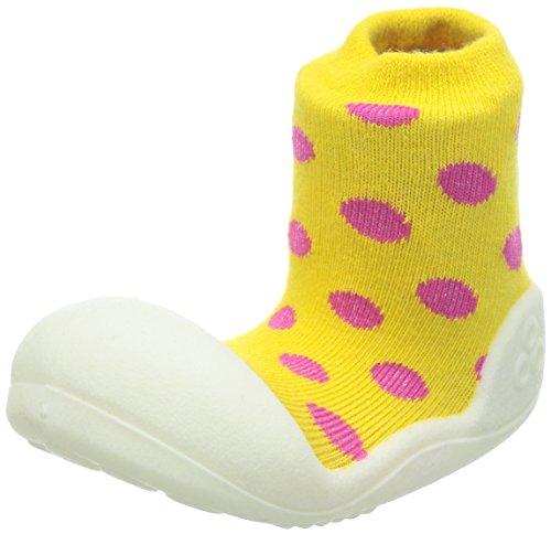 Attipas-Zapatos Primeros Pasos- Polka Dot- Talla XL-Color Amarillo