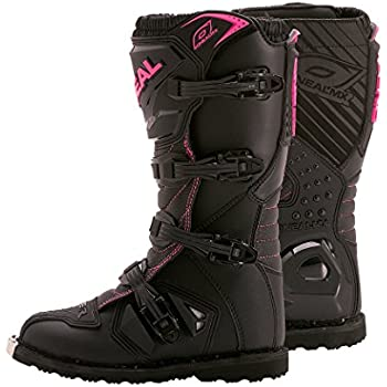 O'Neal Women's Rider Boots (Black/Pink, Size 7)
