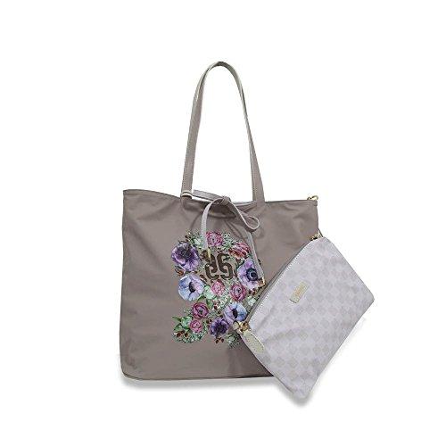 Comprar Ofertas Baratas Piero Guidi borsa donna shopper reversibile Pg Monogramma Soft Reversibile Plus ghiaccio e tortora - 610523082.K6 Costo Precio Barato WO4BY