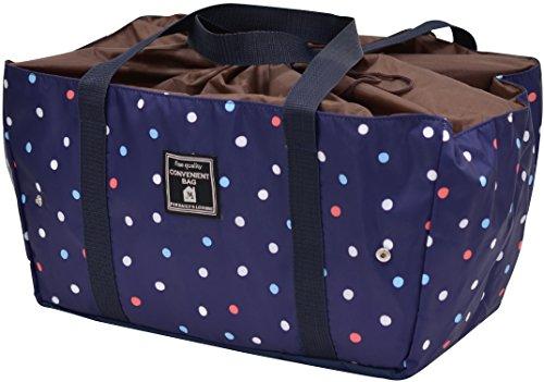 MARIO 保冷バッグ tote de cool エコレジ マルチドット ネイビー M-12373