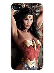 Custom cartoon design tpu skin back cover case for iphone 5/5s of Wonder woman in Fashion E-Mall