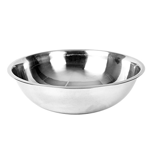 Excellante Mixing Bowl, Heavy Duty, Stainless Steel, 22 gauge, 8 quart, 0.8 mm by Excellante