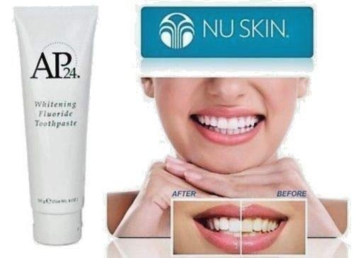 Nu Skin SvABNg Ap 24 Whitening Fluoride Toothpaste, 4 oz, 3 Pack - Hair And Care Aqua Skin
