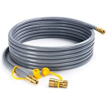 """SHINESTAR 24 feet Natural Gas Quick Connect/Disconnect Hose Assembly for BBQ Grill- 50,000 BTU Fits Low Pressure Appliance -3/8"""" Female Pipe Thread x 3/8"""" Male Flare -CSA Certified"""