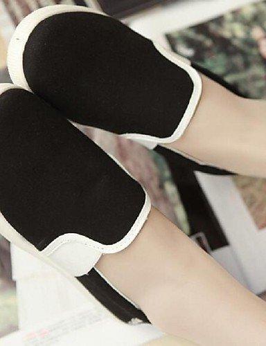 PDX/ Damenschuhe - Ballerinas - Outddor / Lässig - Stoff - Flacher Absatz - Komfort / Rundeschuh - Schwarz / Weiß / Grau , gray-us8 / eu39 / uk6 / cn39 , gray-us8 / eu39 / uk6 / cn39