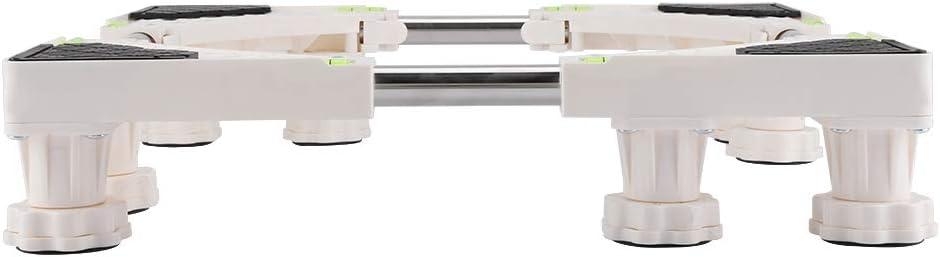 4 Feet Washing Machine Stand-4//8 Feet Multi-Functional Movable Adjustable Washing Machine Base Stand Refrigerator Holder Bracket