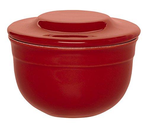 Emile Henry Tabletop (Emile Henry Made In France Butter Pot, Burgundy Red)