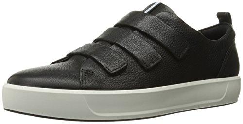 ECCO Men's Soft 8 3-Strap Fashion Sneaker, Black, 44 EU/10-10.5 M US