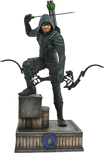 DIAMOND SELECT TOYS Dc Gallery Dctv Arrow: Green Arrow Cw PVC Vinyl Figure (Base Sculpture Supplier)