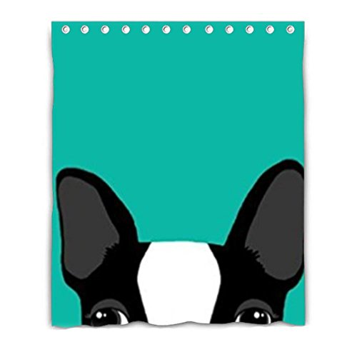 LiFei Business cute dod Boston Terrier Custom shower curtain 60