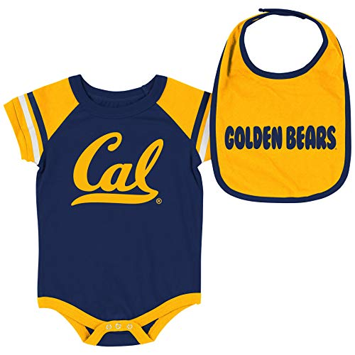 - Colosseum NCAA Baby Short Sleeve Bodysuit and Bib 2-Pack-Newborn and Infant Sizes-Cal Golden Bears-3-6 Months
