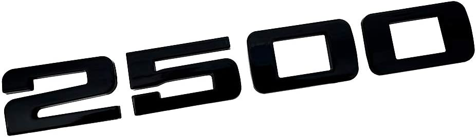 Glossy black 3D Decal Badges Replacement for Gm Silverado Sierra 2Pcs 2500HD 2500 HD Nameplates Emblems