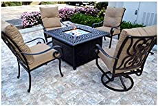 Strathwood St Thomas Cast Aluminum Fire Pit With Table B000w9bp44