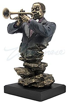 Artistic Trumpet Player Statue Sculpture - Jazz Band Collection by wu
