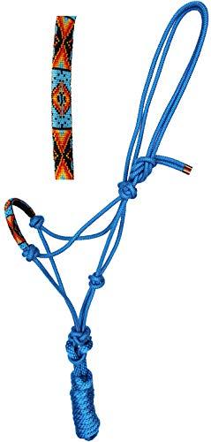 - CHALLENGER Nylon Horse Braided Rope Halter Beaded Noseband w/Lead Rope 606RT08