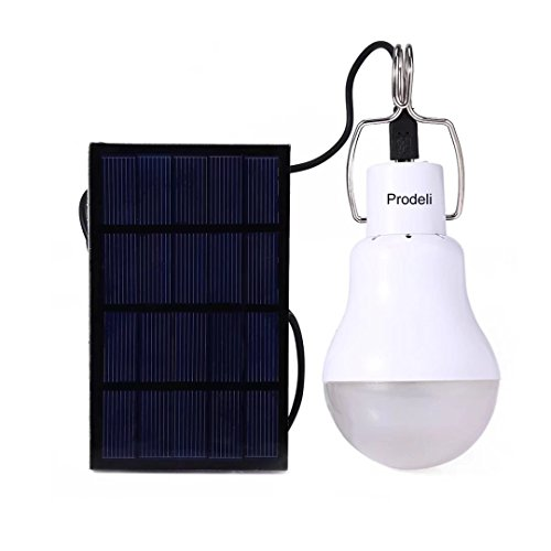 41WKrISL0lL - Solar Panel Powered LED Light Bulb Upgrades Portable 1.5W S-1200 130LM Solar LED Lights Lamp for Indoor Emergency Reading and Outdoor Hiking Camping Tent Lighting …