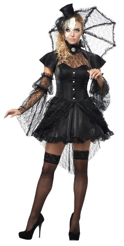 California Costumes Women's Platium Collection - Victorian Doll Adult, Black, X-Large