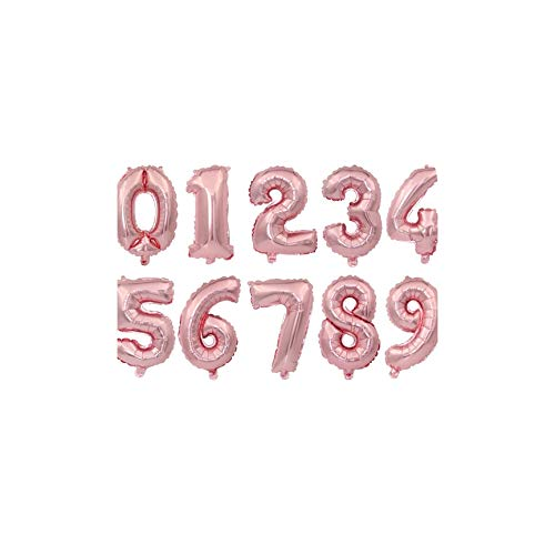 Cherryran Balloons 16 32 Inch Number Blue Black Red Number Foil Happy Birthday Party Wedding,Champagne,3,16Inch