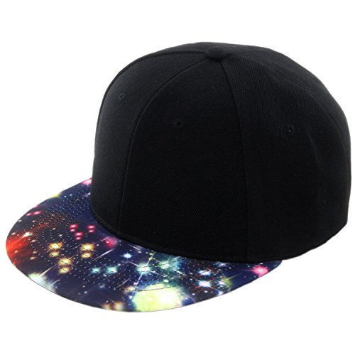 Duolaimi Plain Snapback Cap for Unisex Adult (Black and Colours)